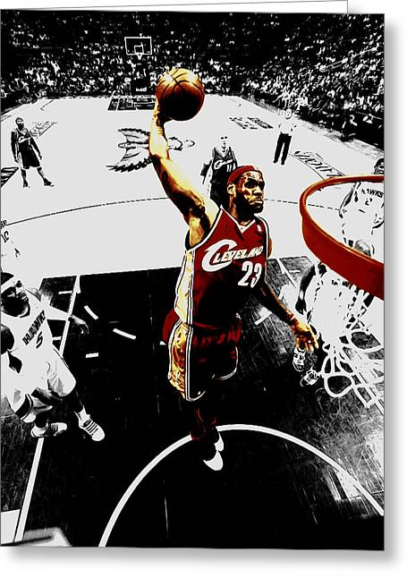 King James Greeting Card by Brian Reaves