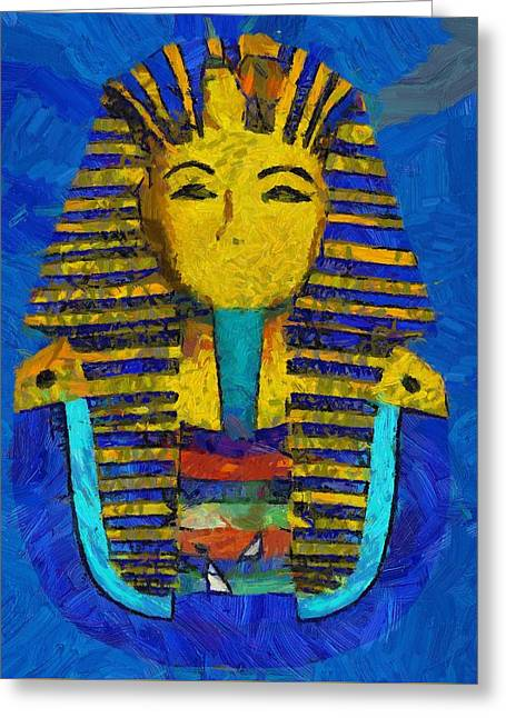 King Tut Greeting Card by Pierre Blanchard
