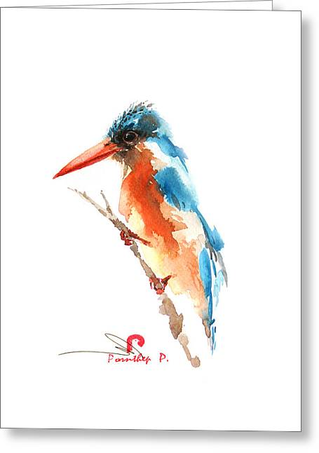 Kingfisher Bird Greeting Card