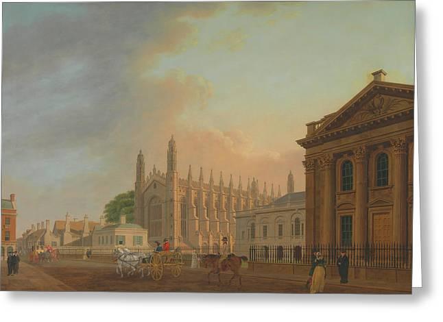 King's Parade - Cambridge Greeting Card