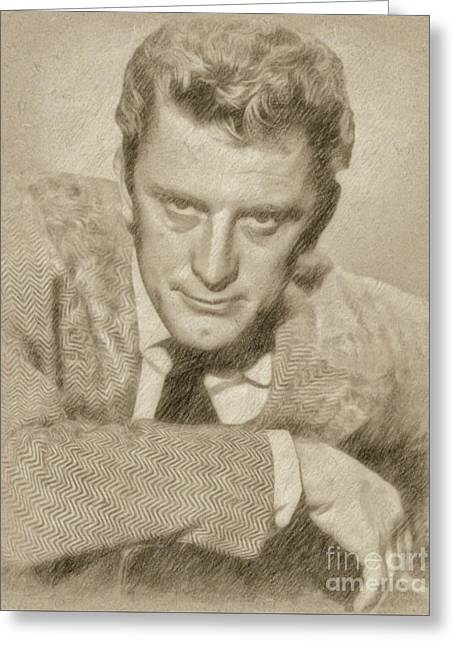 Kirk Douglas Hollywood Actor Greeting Card by Frank Falcon
