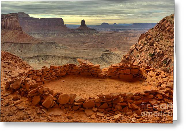 Kiva With A View Greeting Card by Adam Jewell