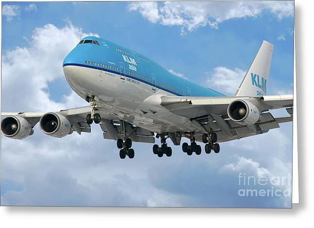 Klm Boeing 747 Greeting Card