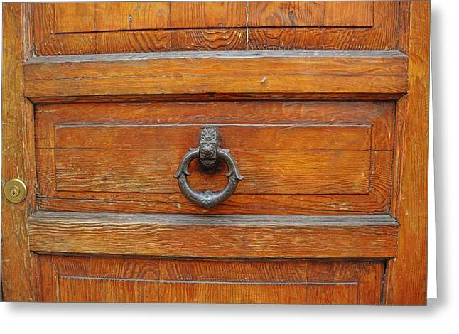 Knock Knock On Wood Greeting Card by JAMART Photography
