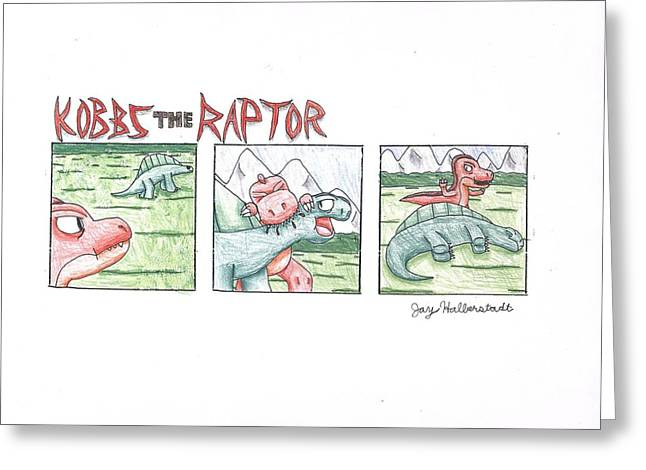 Kobbs The Raptor Greeting Card
