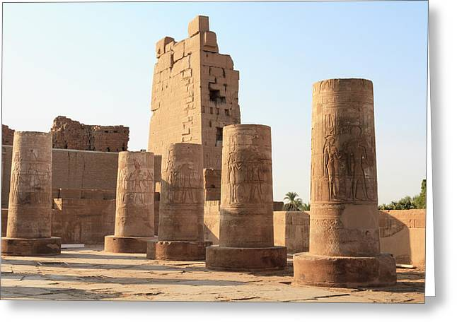 Greeting Card featuring the photograph Kom Ombo by Silvia Bruno