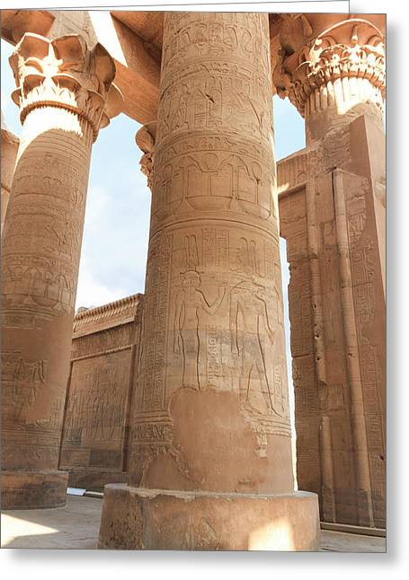 Greeting Card featuring the photograph Kom Ombo Temple by Silvia Bruno