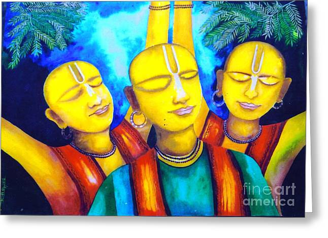 Krishna Conciousness Greeting Card by Pkr