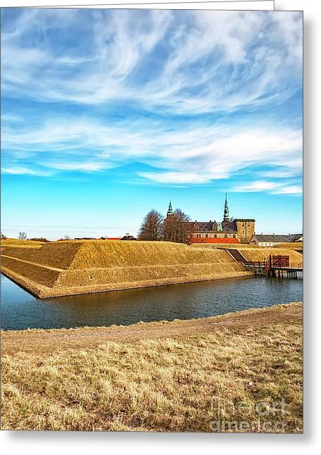 Greeting Card featuring the photograph Kronborg Castle In Helsingor by Antony McAulay