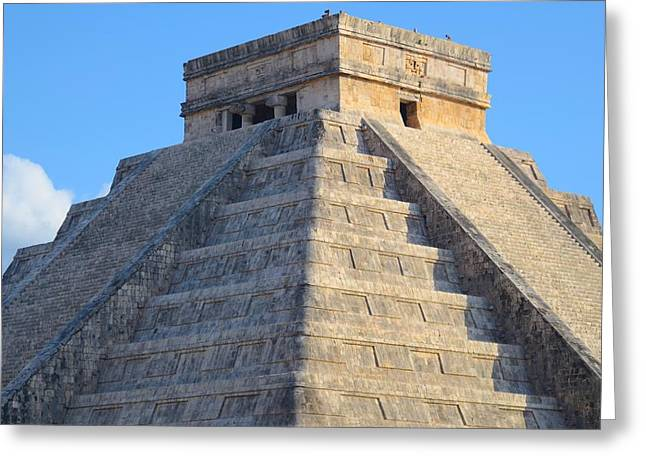 Kukulcan Pyramid Greeting Card by Ricardo Lopez