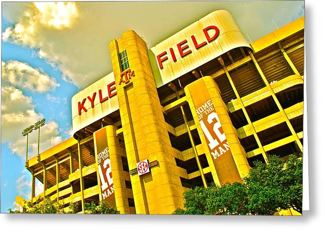 Kyle Field Aggieland Greeting Card by Chuck Taylor
