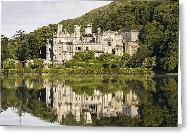 Rich Countries Greeting Cards - Kylemore Abbey, County Galway, Ireland Greeting Card by Peter McCabe