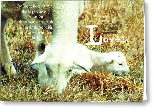 L Is For Lamb Greeting Card by Anita Faye
