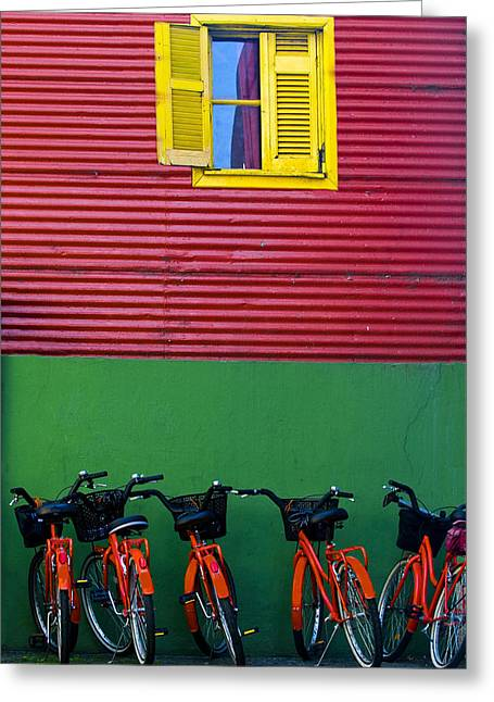 La Boca Greeting Card by Kobby Dagan