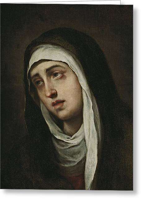 La Dolorosa Greeting Card by Bartolome Esteban Murillo