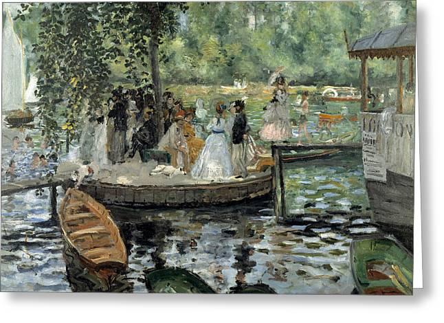 La Grenouillere Greeting Card by Auguste Renoir