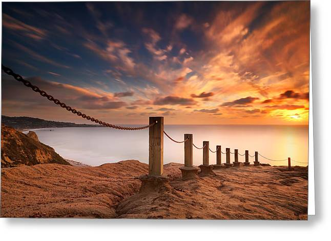 La Jolla Sunset 2 Greeting Card by Larry Marshall