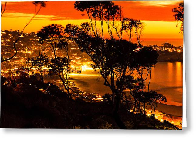 La Jolla Sunset Greeting Card