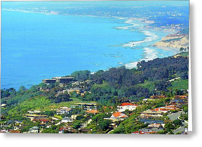 La Jolla To Carlsbad Greeting Card by Russ Harris
