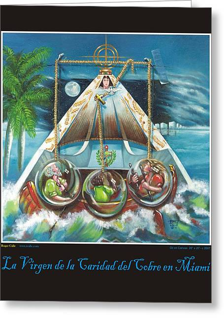 La Virgen De La Caridad Del Cobre En Miami Greeting Card