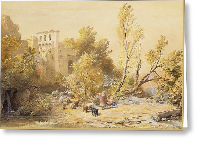 La Vocatella Greeting Card by Samuel Palmer