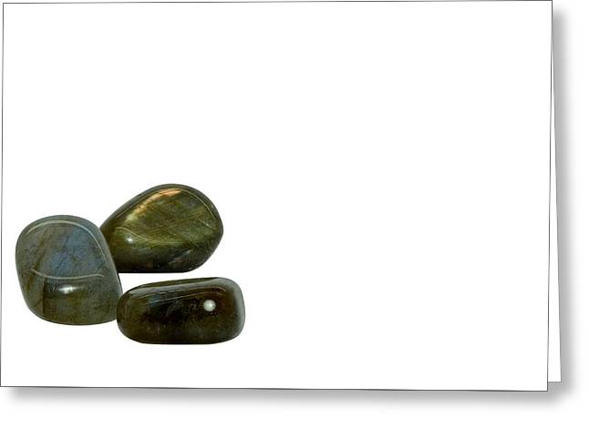 Labradorite Gemstone Greeting Card by Stela Knezevic