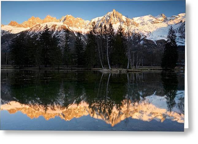 Lacs Des Gaillands Greeting Card