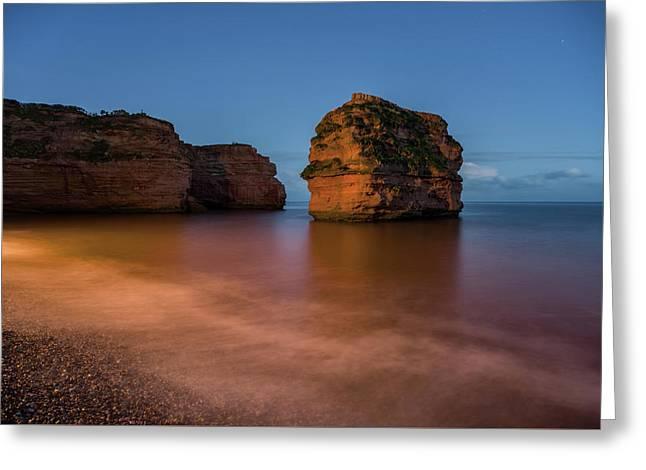 Ladram Bay In Devon Greeting Card by Pete Hemington