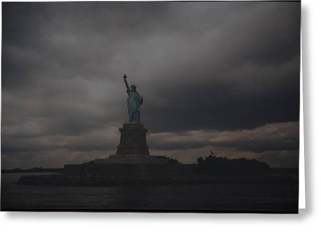 Lady Liberty Greeting Card by Rob Hans