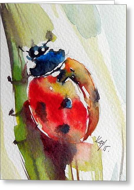 Ladybird Greeting Card by Kovacs Anna Brigitta