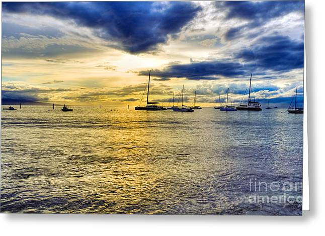 Lahaina Harbor Greeting Card