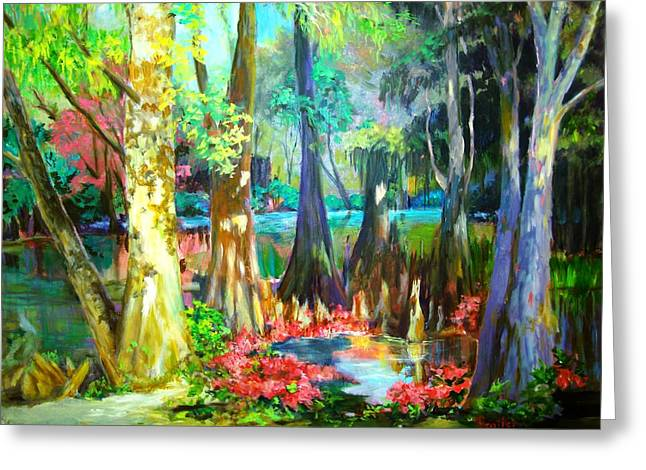 Greeting Card featuring the painting Lake Arthur Swamp by AnnE Dentler