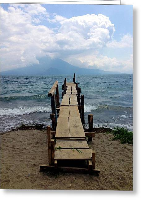 Lake Atitlan Dock Greeting Card