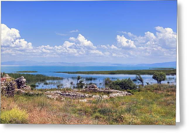 Lake Beysehir - Turkey Greeting Card by Joana Kruse