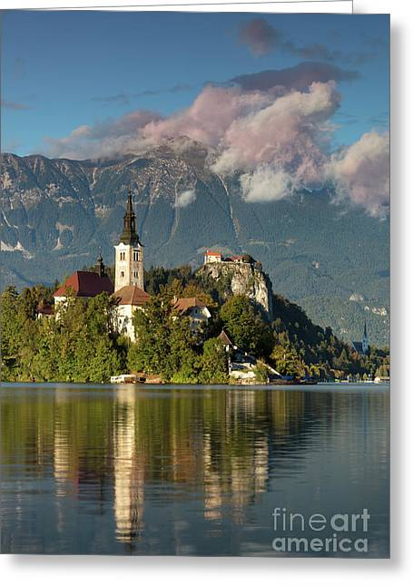Greeting Card featuring the photograph Lake Bled by Brian Jannsen
