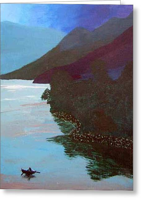 Lake By The Mountains Greeting Card