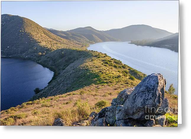 Lake Hodges Greeting Card by Alexander Kunz