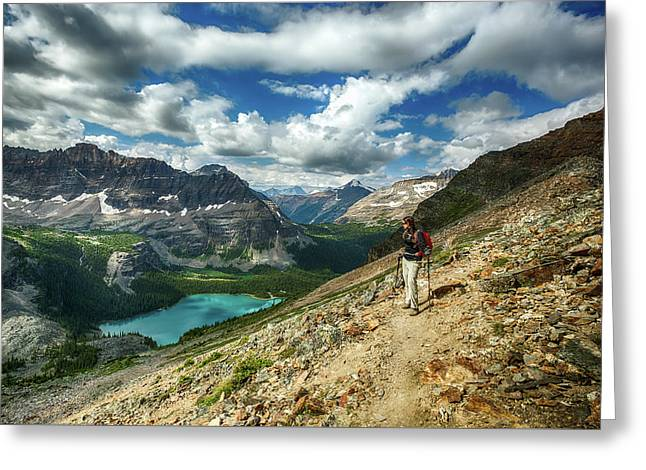 Lake O'hara Adventure Greeting Card