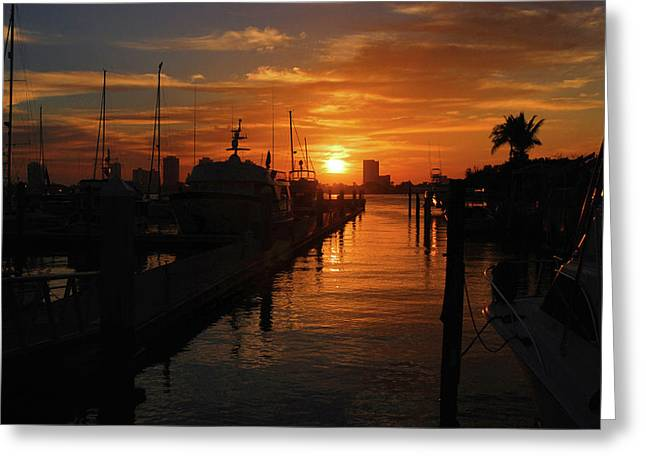 Greeting Card featuring the photograph 1- Lake Park Marina by Joseph Keane