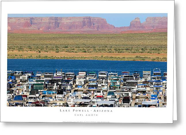 Lake Powell Arizona Greeting Card by Carl Amoth