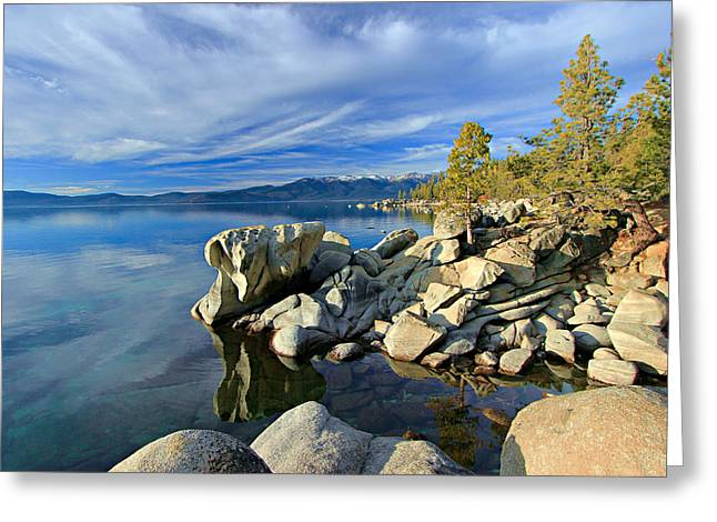 Lake Tahoe Rocks Greeting Card