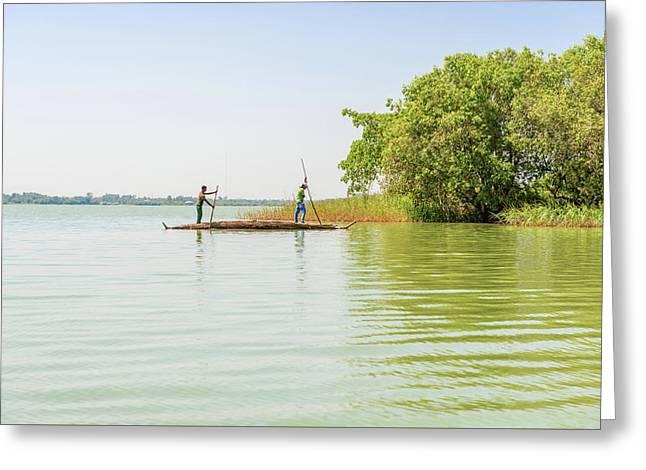 Lake Tana In Ethiopia. Greeting Card by Marek Poplawski
