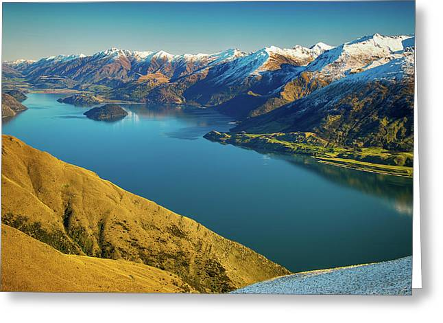 Lake Wanaka Greeting Card by Martin Capek