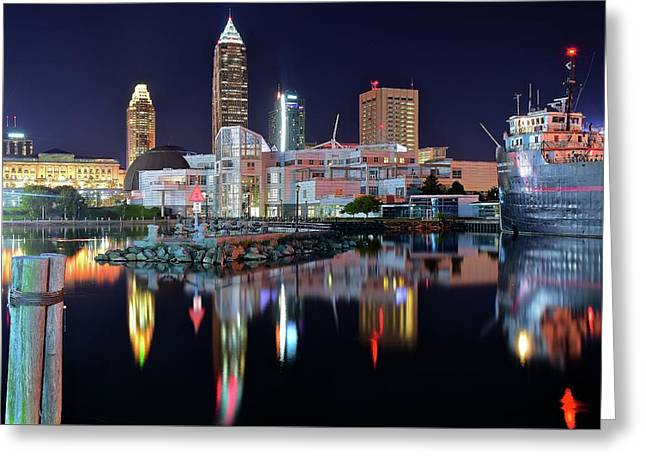 Lakefront Lights Greeting Card