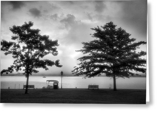 Lakeside Park I Greeting Card by Steven Ainsworth