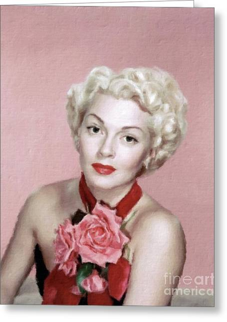 Lana Turner Vintage Hollywood Actress Greeting Card