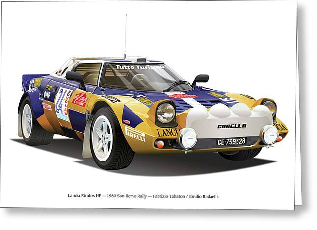 Lancia Stratos Hf Greeting Card
