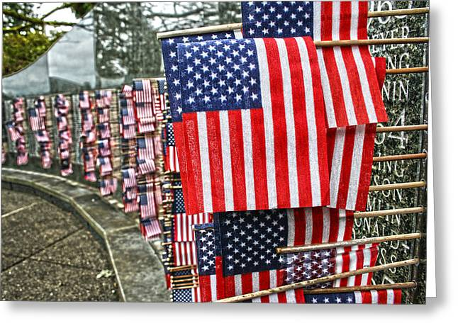 Land Of The Free Greeting Card by Kerry Langel