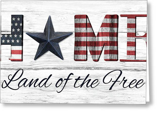 Land Of The Free Greeting Card
