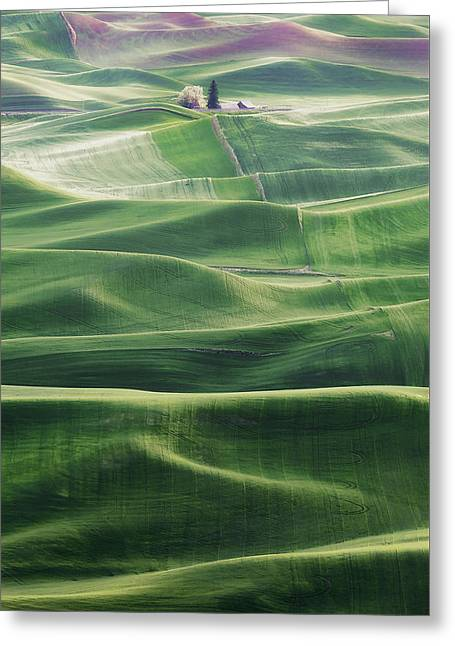 Land Waves Greeting Card by Ryan Manuel